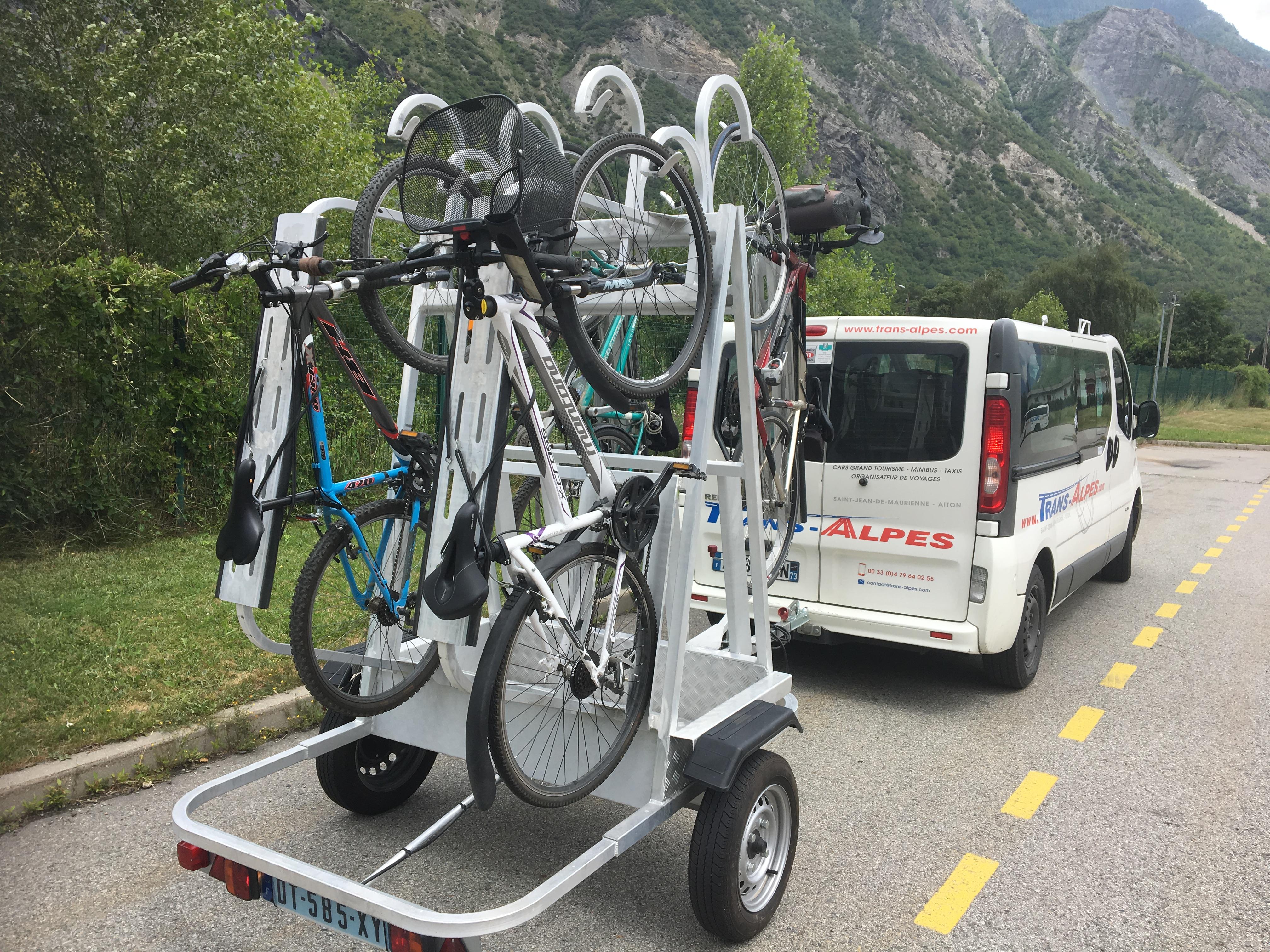 Pierre Nouveauté été 2017 Remorque Porte Vélo Trans Alpes