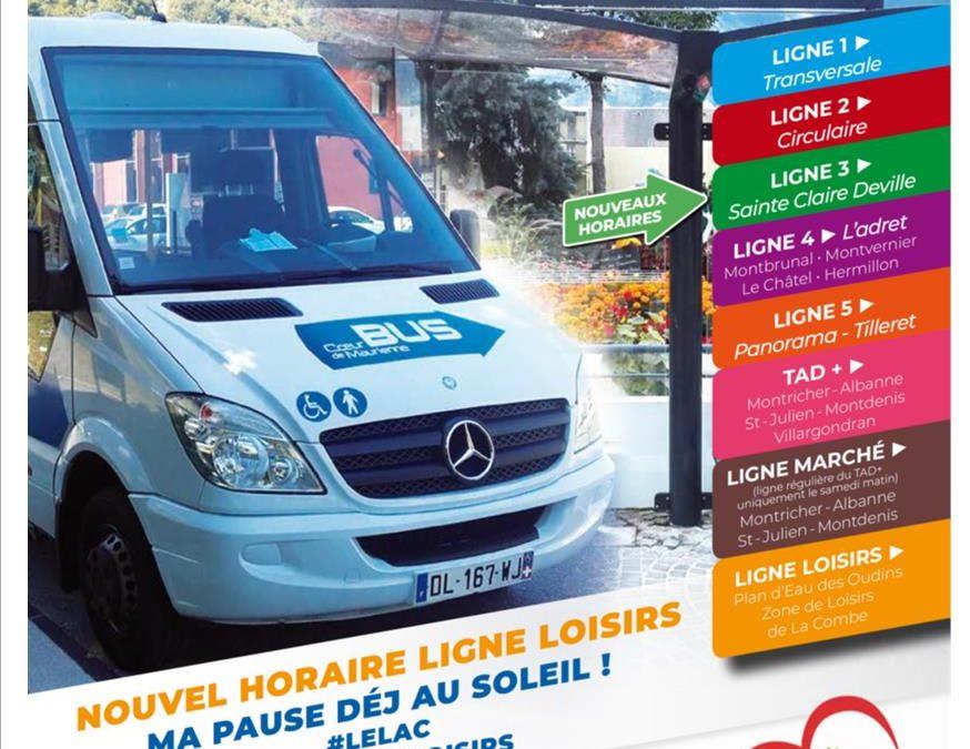 RESEAU DU COEUR DE MAURIENNE ARVAN BUS – NOUVEAUX SERVICES A PARTIR DU 07/07/2018