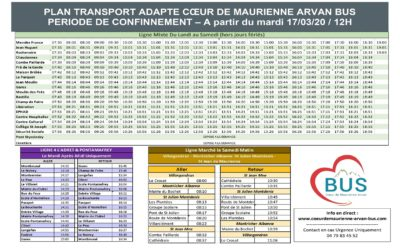 TRASPORT ADAPTE  COEUR DE MAURIENNE ARVAN BUS
