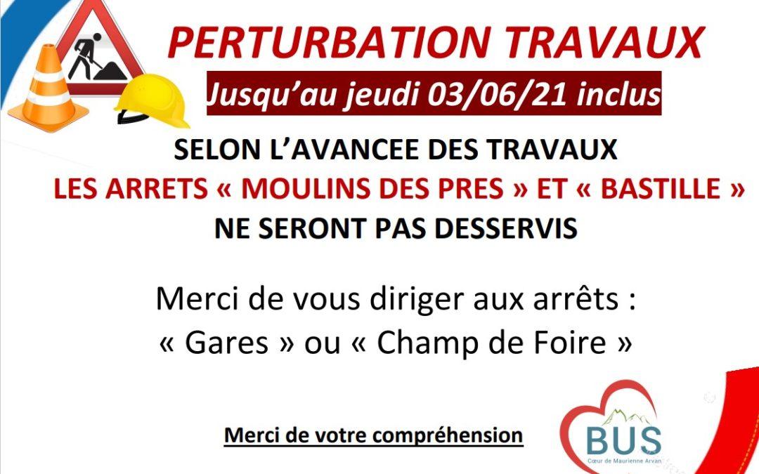 Perturbation Travaux – Réseau du Cœur de Maurienne Arvan Bus